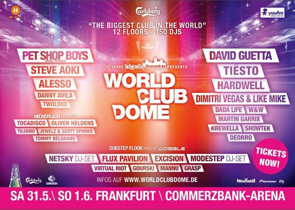 "The ""biggest club in the world"" 12 Floors, 150 DJs beim BigCityBeats WORLD CLUB DOME"
